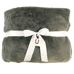 Ultra Plush Charcoal Gray Luxe Throw
