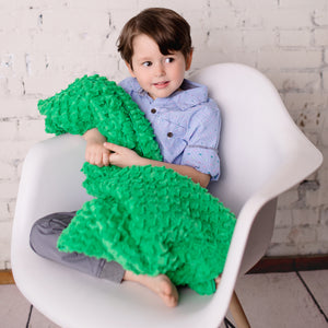 Green Cozy Twist Baby Blanket