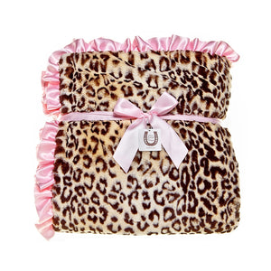 Jaguar Throw - Pink Ruffle