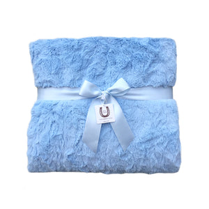 Luxe Blue Bunny Throw