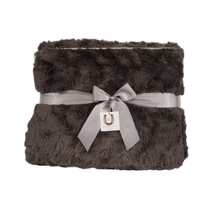 Luxe Charcoal Bunny Throw