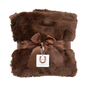 Luxe Chocolate Bunny Baby Blanket