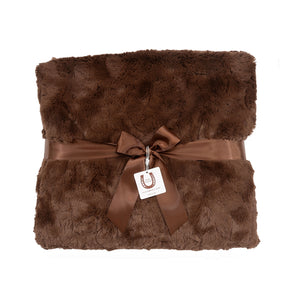 Luxe Chocolate Bunny Throw - Chocolate Piping