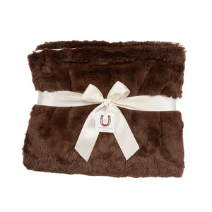 Luxe Chocolate Bunny Throw - Ivory Piping