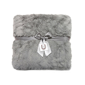 Luxe Gray Bunny Throw