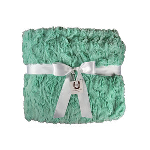 Mint Luxe Bunny Throw