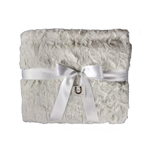 White Luxe Bunny Throw