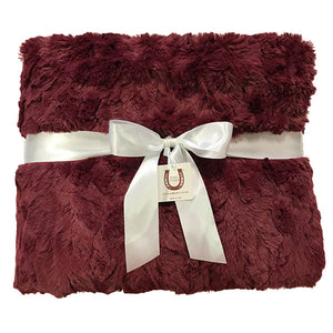 Maroon Luxe Bunny Adult Throw
