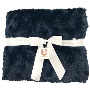 Navy Luxe Bunny Adult Throw