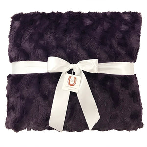 Plum Luxe Bunny Adult Throw