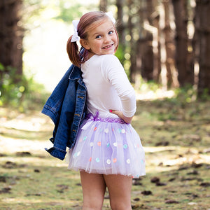 Purple Pastel Polka Dots Tutu