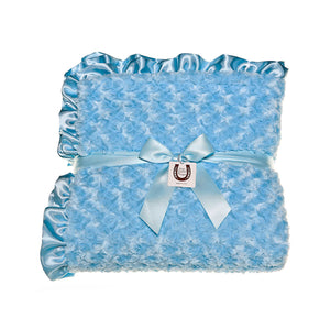 Blue Rosebuds Throw
