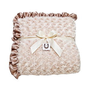 Champagne Rosebuds Throw