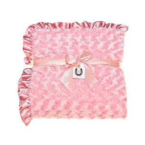 Coral Rosebuds Throw