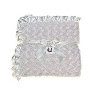 Ivory Rosebuds Throw