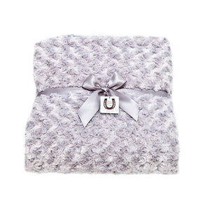 Platinum Rosebuds Throw
