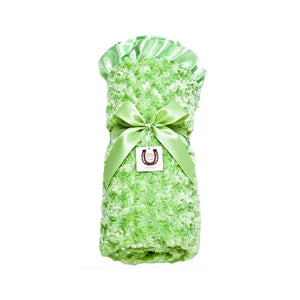 Celery Rosebuds Throw - Satin Backing