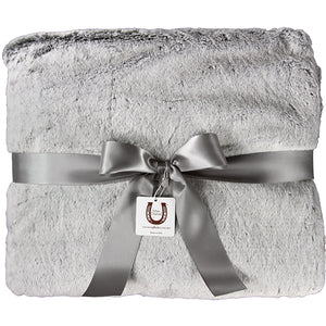 Silver Chinchilla Fluff Throw