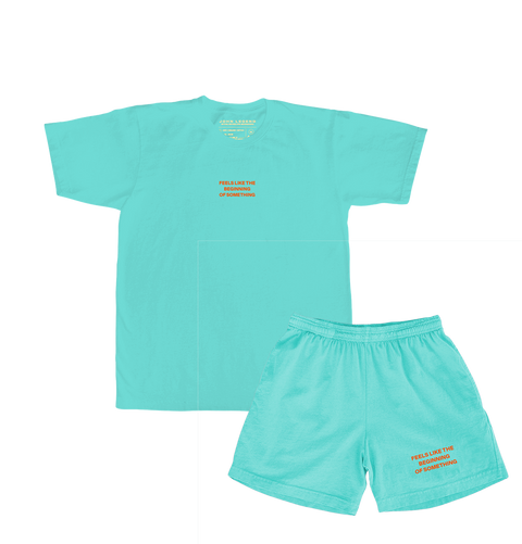 Bigger Love Two-sided T-Shirt (Teal) + Teal Shorts