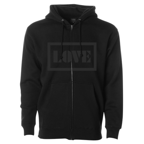 Love Zip Up Hoodie (Black)