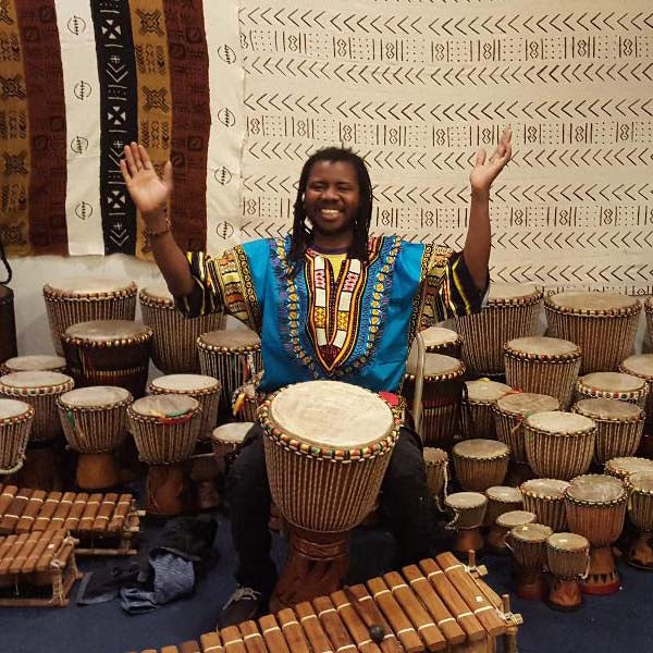 Join Africa Love and Papa Diarra Zumana, Master Drummer from Ivory Coast at our weekly African Drum Class