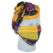 African Headwraps and Face Masks (Ankara Cloth A)