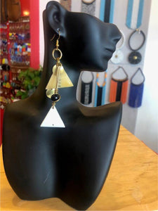 Abstract Triangle Tear Drop Earrings