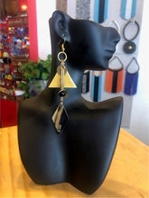 Abstract Diamond (Black) Earrings