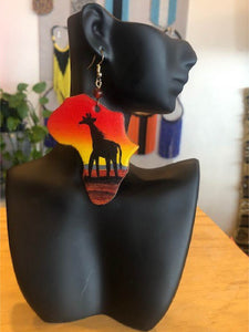 Africa Abstract Pattern Earrings