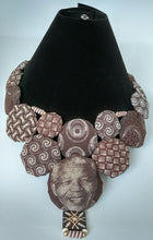 Necklace-Disc-Nelson Mandela: Red & Brown