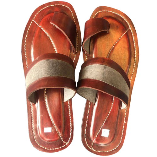 Ngaye Sandals: Red & Silver (Unisex)