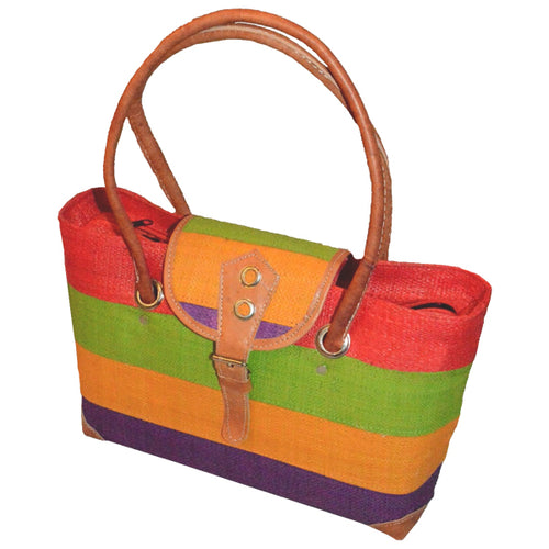 Raffia Hand Bag-Beach Babe
