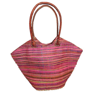 Raffia Trapezoid Bag_Multicolored