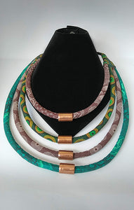 Necklace-Rope: Green & Brown