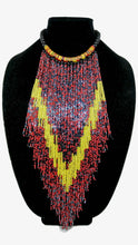 Senegalese Necklace-V: Red, Yellow & Black