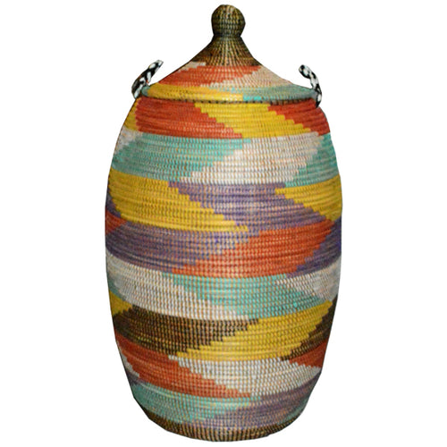 Hamper/Storage Basket - Multicolored