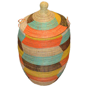Hamper/Storage Basket - Multicolored Fall Harvest