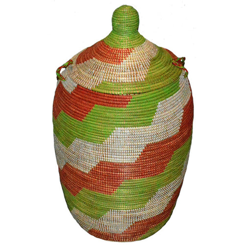 Hamper/Storage Basket - Red & Green