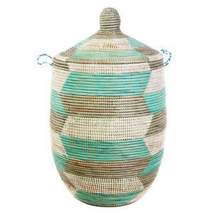 Hamper/Storage Basket - Teal & Grey