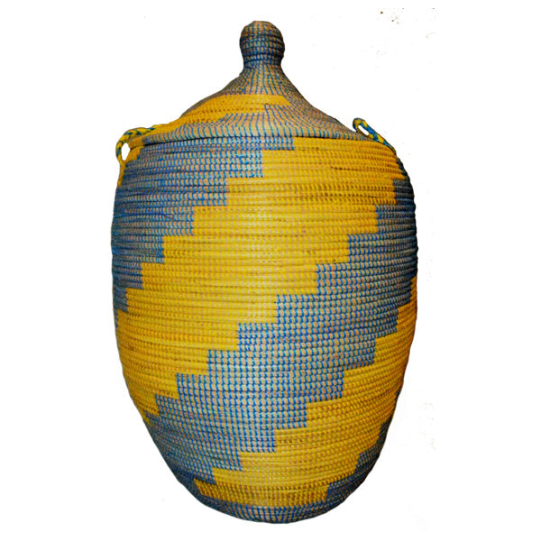 Hamper/Storage Basket - Yellow & Blue