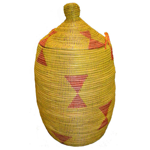 Hamper/Storage Basket -Yellow & Red