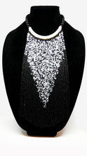Senegalese Necklace-V: Red, White & Black