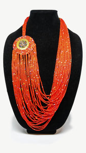Maasai Necklace-String: Red
