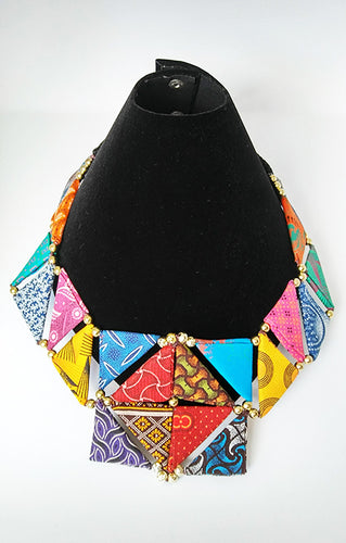 Necklace-Triangle_SM: Multicolored (Summer)