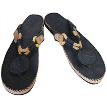 Ngaye Sandals: Snake Skin (Yellow&Black)