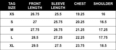 Rogue Territory Stealth Service Shirt sizing
