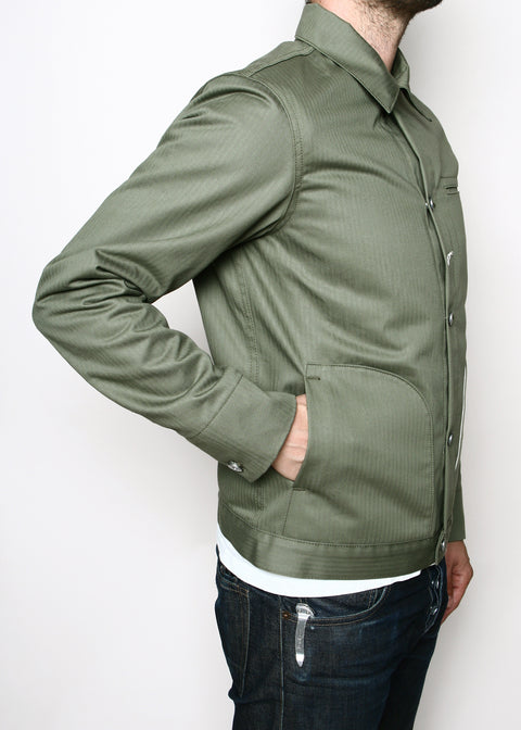 Rogue Territory Lined Olive Herringbone Supply Jacket