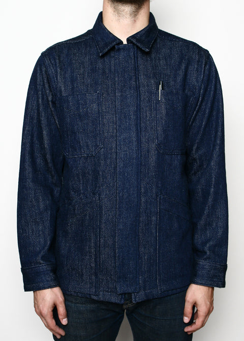 Rogue Territory Infantry Jacket Indigo Knitted Denim