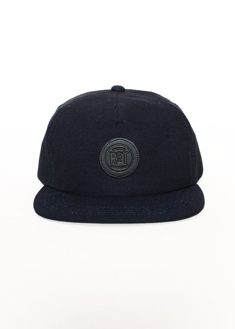 Rogue Territory 5 Panel Snapback Hat Indigo Selvedge Canvas