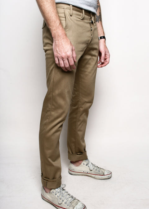 Rogue Territory Officer Trousers Bronze Selvedge Sizing
